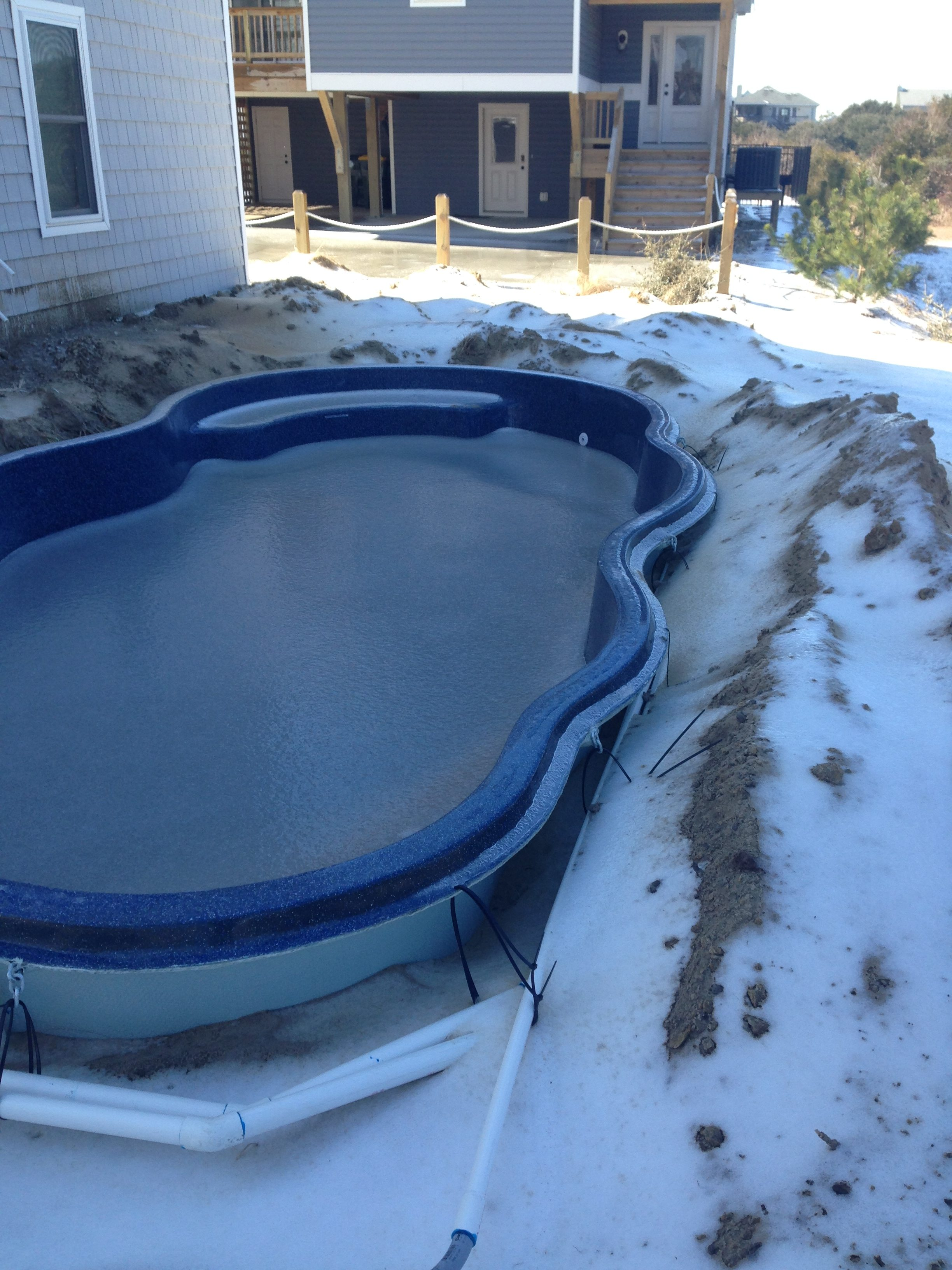 Swimming Pool Bank : Install swimming pool in winter southern scapes pools
